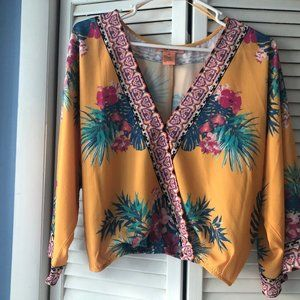 Colorful Leaf Blouse